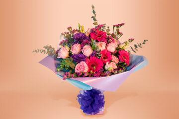 Ramo floral natural con rosa y gerbera