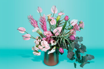 Arreglo floral natural con tulipanes
