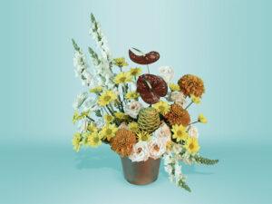 Arreglo de flor natural con snapdragon