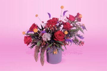 Arreglo floral natural con base