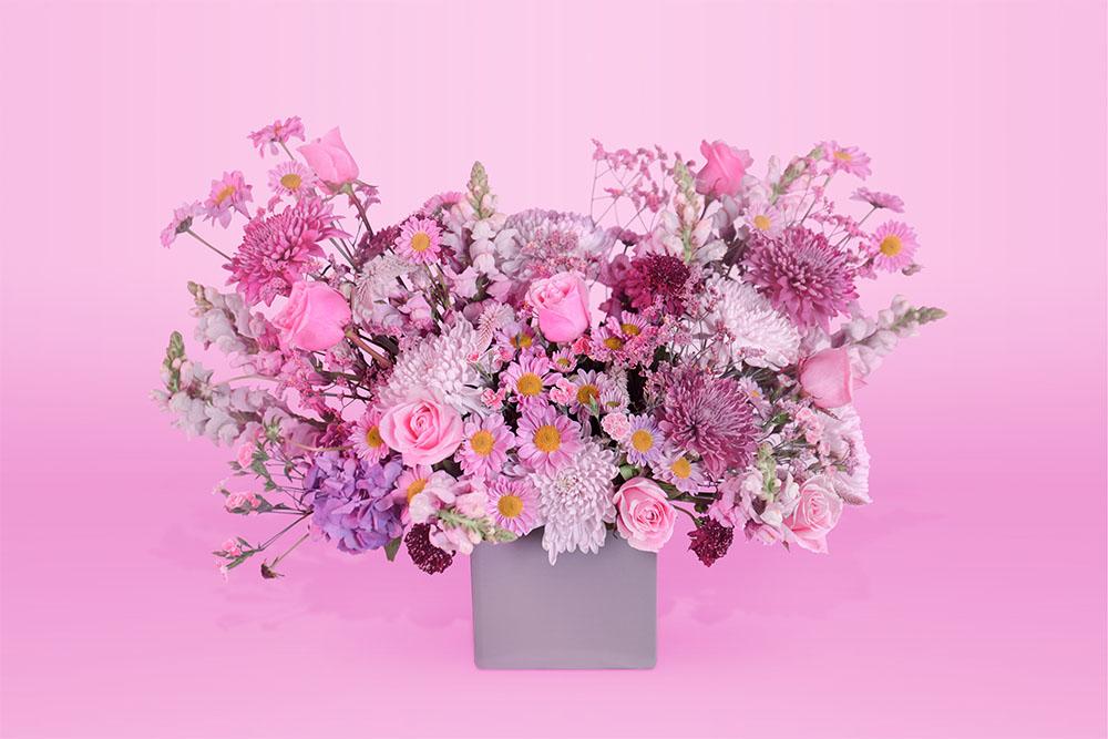 Arreglo floral natural con rosa
